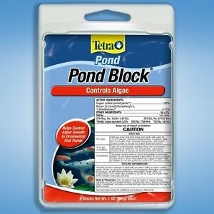 Tetra pond block algae control 4 pk slow release koi for Koi pond algae control