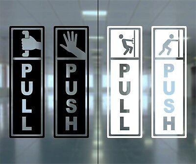 Push Pull Open Close No Pet Caution Door Window Information Warning Note Sign