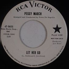 PEGGY MARCH: Let her Go USA RCA Victor PROMO 45 VG++ Hear