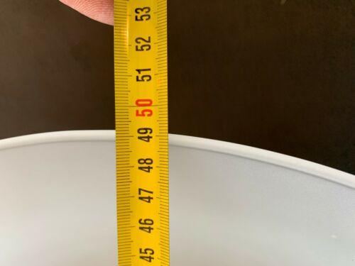 Pendellampe Pendelleuchte D50 cm Großer Lampenschirm konisch Milchglas E27