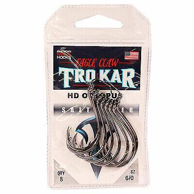 2 NEW Trokar HEAVY WIRE OCTOPUS Hooks DOWN POINT 3//0 TK24-3//0