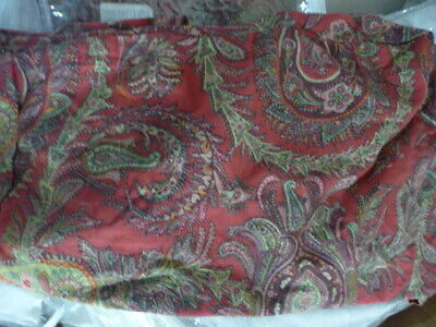Pottery Barn Napa Side Chair Slipcover Red Paisley Dining