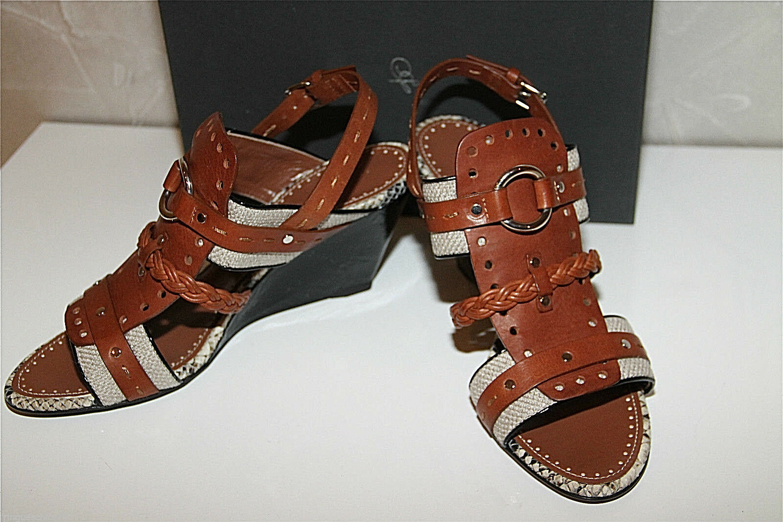 Wedge Sandals Python Giuseppe Zanotti Size 36 New Collection Val