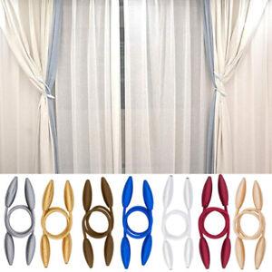 4 PCS Curtain Tiebacks Tassel Twisted Rope Living Room Golden
