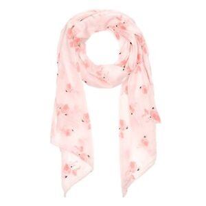 Damen Schal lang Flamingo leichter Schal Baumwolle Seide Neverless®