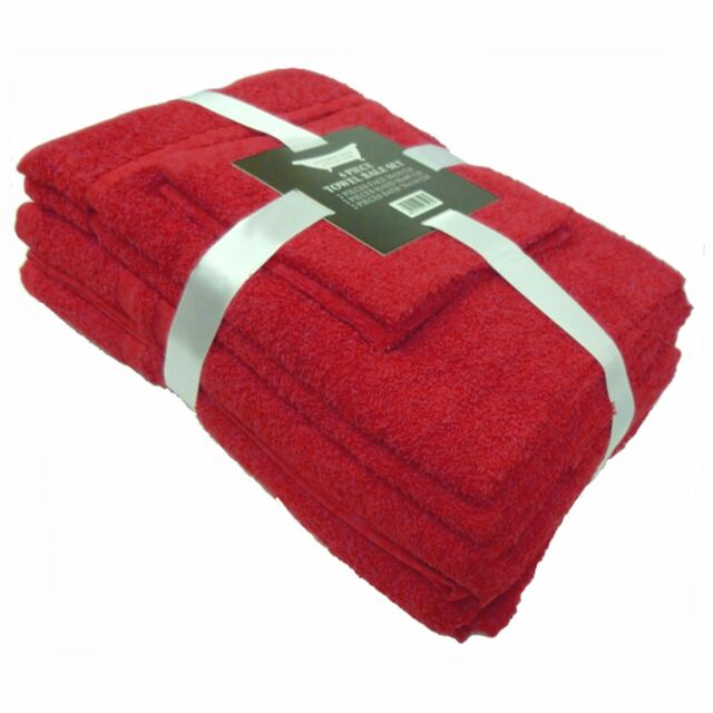 RED TOWEL 6 BALE PIECE 100% COTTON NEW