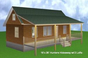 16 x 36 cabin w 2 loft plans package blueprints for Deck plans and material list