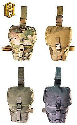 High Speed Gear MOLLE Gas Mask Pouch V2 Dump Pouch Drop Leg//Shoulder Strap