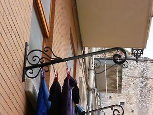 Coppia stendibiancheria stendi abiti a muro da esterno in - Aprire finestra muro esterno ...