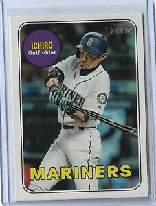 Ichiro-Seattle-Mariners-2018-Topps-Heritage-High-Number-Action-variation-716-SP
