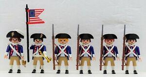 Continental-Armee-Soldats-Playmobil-pour-Washington-vs-Roi-George-Garde-USA