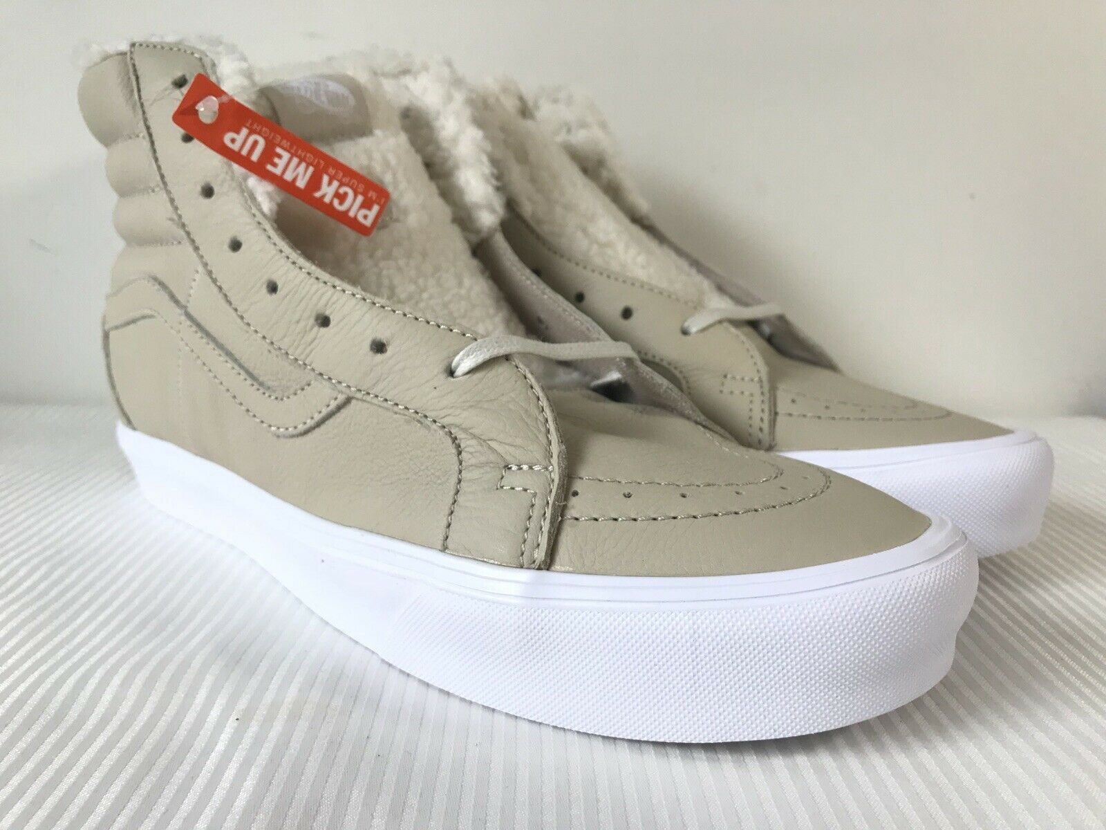 Vans SK8-Hi Reissue Lite Sherpa Cement Sneakers VN0A38GKQXC NWOB DS Men's Sz 13