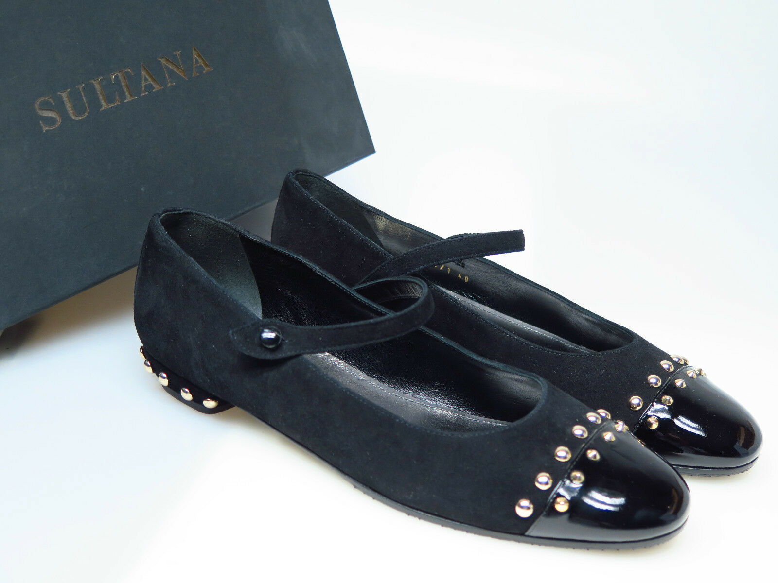SULTANA Schuhe Designer Damenschuhe N4258 Emma Comoscio schwarz Timor Gr. 36,5 NEU