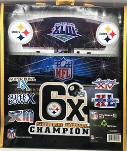 pretty nice 9434c 8af9f Details about NFL Pittsburgh Steelers 6x Super Bowl Champions Reusable  Shopping bag (5 Bags)