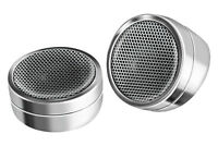 (2) Tweeter Speakers.chrome Pair.surface / Angle Mount..1-3/8.w/ Crossovers