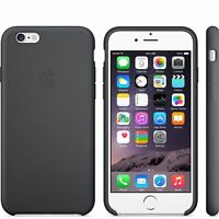 Genuine Silicone Case for Apple iPhone 6 / 6s in Black (Charcoal Grey)