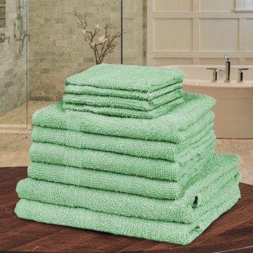 10 Piece Bathroom Towel Bale Set 100/% Egyptian Cotton Premium Luxury Gift Set