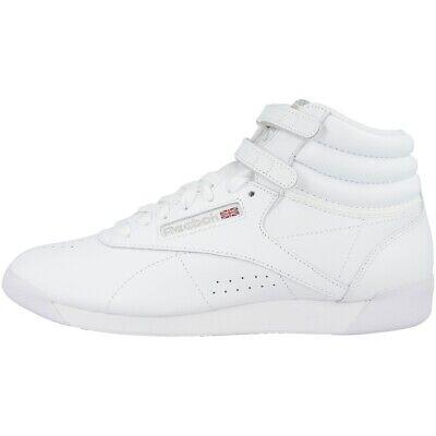 Reebok Freestyle Hi Shoes Women Ladies High Top Classics Sneaker White 2431 | eBay