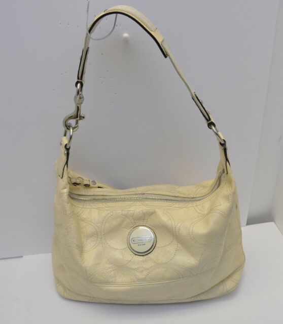 coach f17421 signature stitch patent leather ivory hobo handbag rh ebay com
