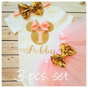 4ad1d23ab Image is loading First-birthday-outfit-Minnie-Mouse-Inspired-outfit-Pink-