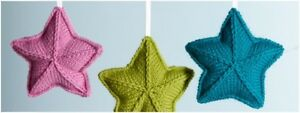 T021 KNITTING PATTERN CHRISTMAS OR BABY MOBILE STAR  IN DK