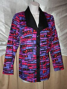 Travel-Elements-Womens-Size-M-Multi-Colored-4-Button-Front-Jacket-MSRP-102-NEW