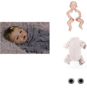 "20/"" Handmade Baby Doll Silicone Unpainted Blank Doll Reborn Kits Full Limb Mold"