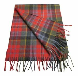 Lambswool /& Angora  Oversized Blanket Style Scarf//Wrap Red Check