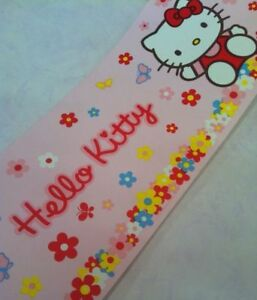 Hello-Kitty-Wallpaper-Border-Flowers-Daisy-Floral-Cat-Pink-Multicoloured-10m