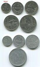 15 5 Romania C026 1966 1 Leu full set of 5 vintage coins 25 Bani 3 Lei