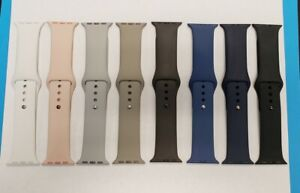 OEM Apple 38mm M/L Silicone Bands Various Colors