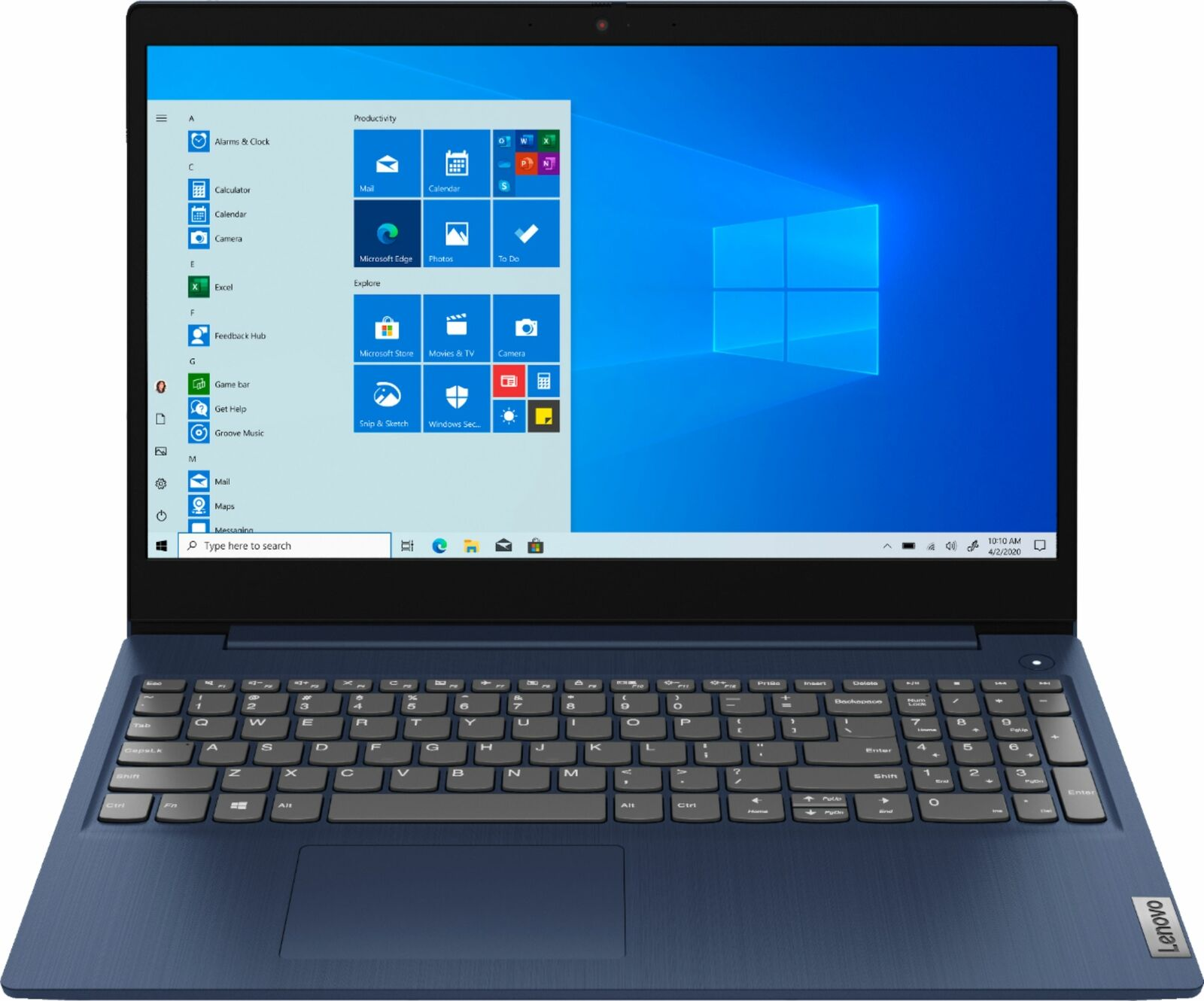 "Lenovo - Ideapad 3 15 15.6"" Touch-Screen Laptop - Intel Core i3 - 8GB Memory ..."