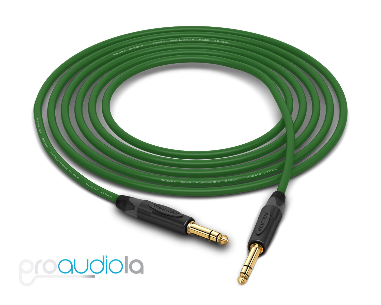 Mogami Quad 2534 Cable   Neutrik Gold 1 4  TRS   Grün 300 Feet   300 Ft.   300'