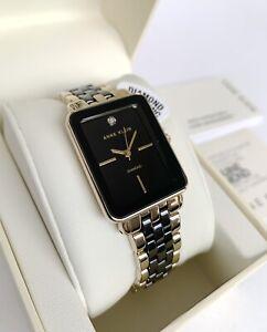 Anne Klein Watch * 3668BKGB Diamond Black Ceramic Gold Steel for Women