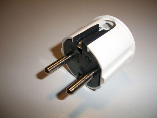 Schukostecker 5 Stück !!!! 16A   250 V  weiß Winkelstecker Z49