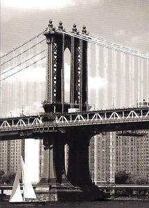 Postkarte - Hoffmann - Der East River und die Manhattan Brücke