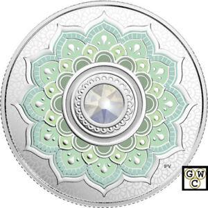 2018-039-October-Birthstones-039-Crystal-Prf-5-Silver-Coin-1-4oz-9999-Fine-18578-NT