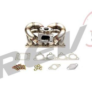 Details about REV9 HP SERIES HONDA D15 D16 EQUAL LENGTH RAM HORN SOHC VTEC  TURBO MANIFOLD T3