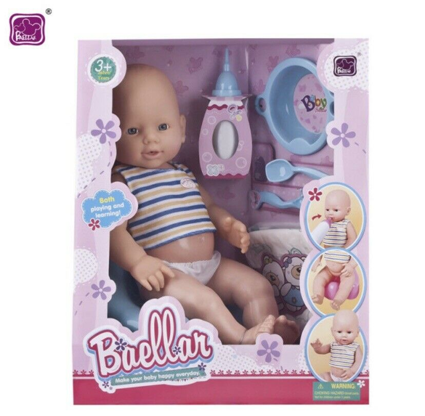 Baellar Baby Doll 38.5cm Doll Ages 3+ Years With Accessories In Blue