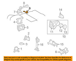 1999 lexus es300 engine diagram lexus toyota oem 99 01 es300 engine motor mount rear 1238020040 ebay  lexus toyota oem 99 01 es300 engine