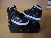 Vlado Footwear Youth Knight Black / White Leather Hightops Shoes Size 11 Youth