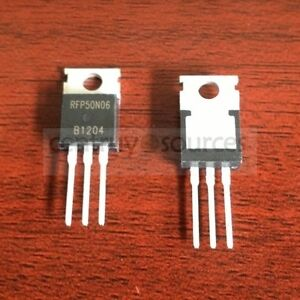 10pcs RFP50N06  TO-220 50N06 POWER MOSFET N-CHANNEL 60V 50A TO-220