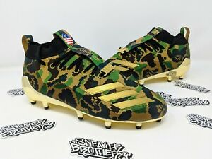 37e1231a1 Adidas x Bape Football Cleat Green Camo Superbowl Metallic Gold A ...