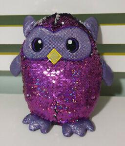 Shimeez-Owl-Children-039-s-Reversable-Sequin-Plush-Toy-20cm-Tall
