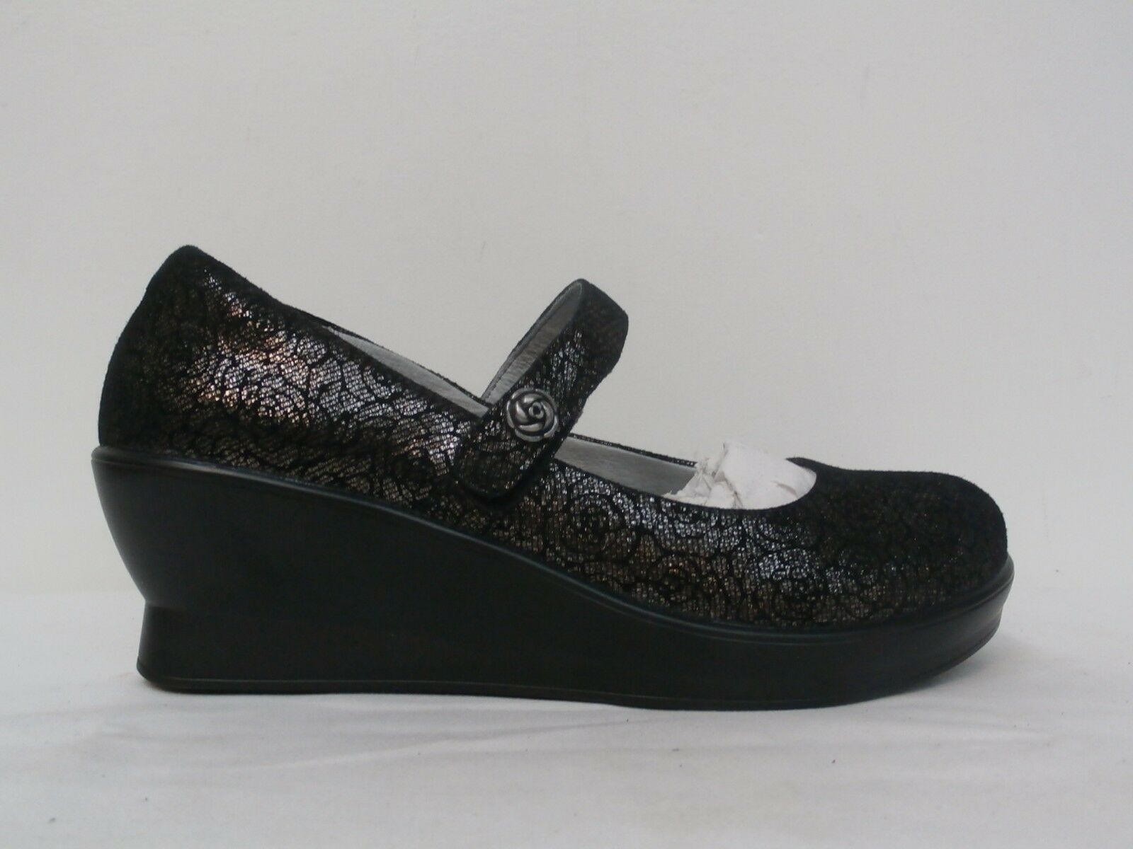 Alegria Leather Mary Janes - Flair PEWTER FLORETTE FLORETTE FLORETTE Size 11 US 191bf9