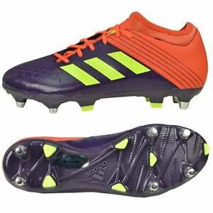 Détails sur Adidas Predator Malice Elite Rugby Bottes Violet, Orange, Jaune