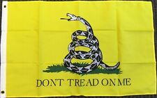 Dont Tread on Me Yellow Gadsden Flag Tea Party Banner Historical Pennant 2x3 FT