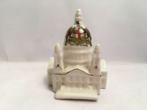 Vintage-Crested-China-City-Of-London-St-Paul-s-Cathedral-Florentine-China