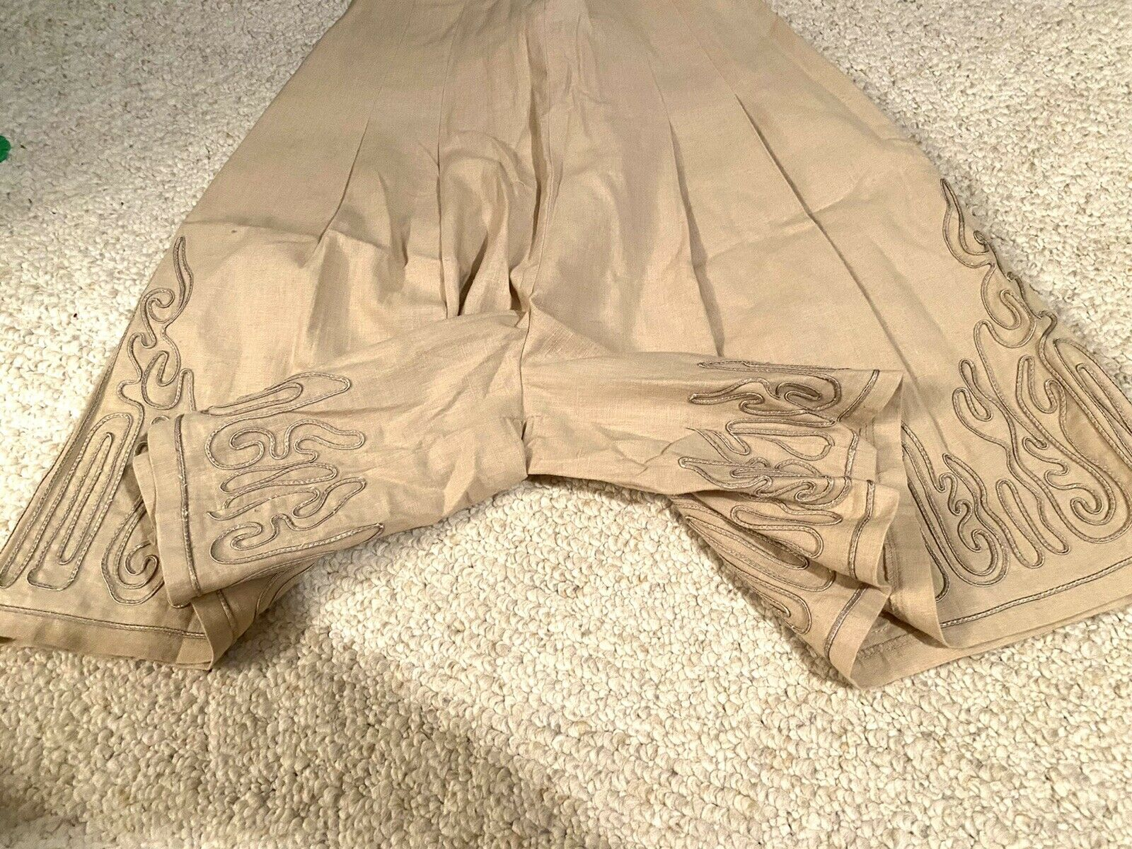 MARIE ST. CLAIRE Vintage Beige PLEATED Skort With… - image 3