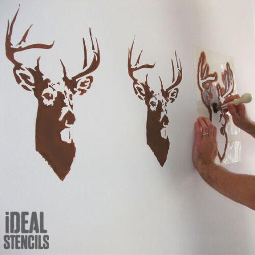 Hirsch Schablone Hirschkopf Wiederverwendbar Heim Wanddekoration Farbe Ideal